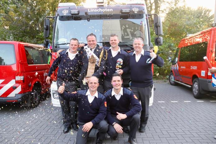 Brandweer Linschoten landskampioen in de categorie 112-oefening
