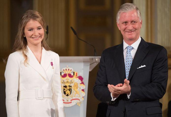 La princesse Elisabeth et le roi Philippe