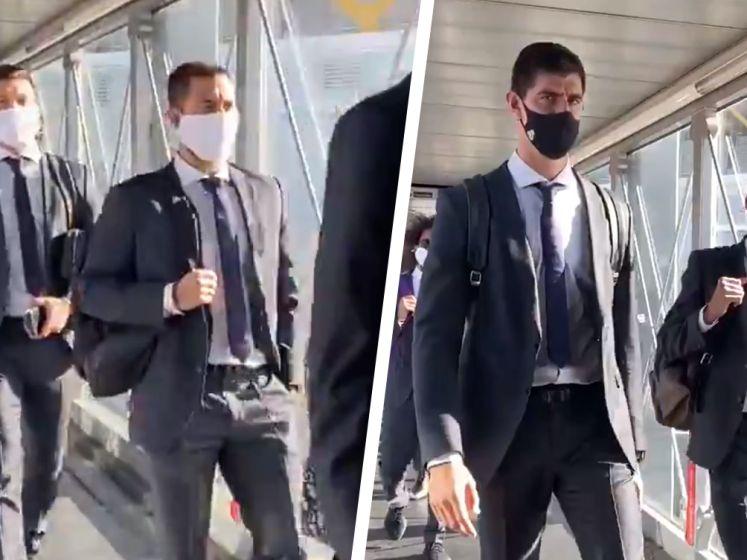 Hazard en Courtois stappen op vliegtuig richting Duitsland, waar Real Madrid morgen maar beter resultaat boekt tegen Gladbach