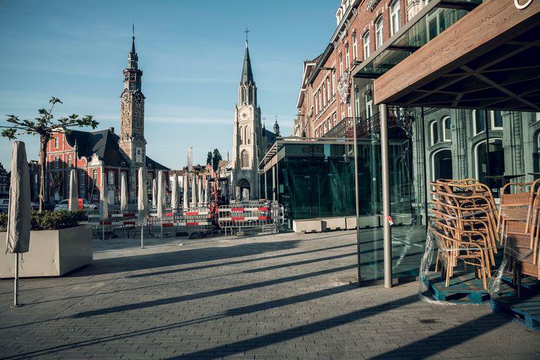 De terrasjes op de Grote Markt in Sint-Truiden.