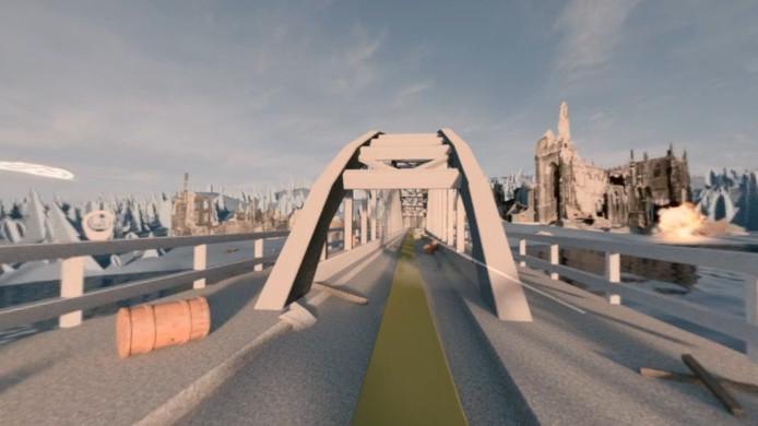 De John Frostbrug in Arnhem in de app.
