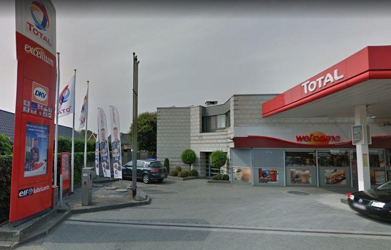 Het Total-tankstation aan de Grote Baan in Houthalen-Helchteren.