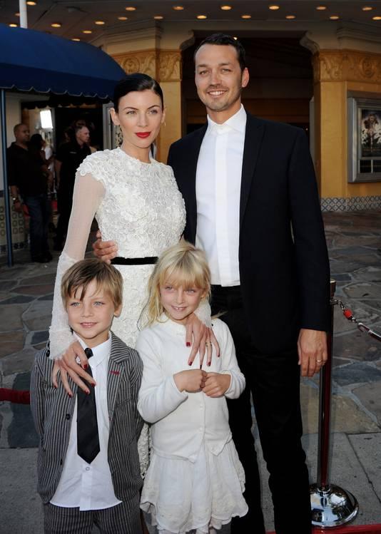 Liberty Ross & Rupert Sanders, met zoon Tennyson en dochter Skyla