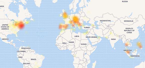Wereldwijd worden problemen met Facebook gemeld.