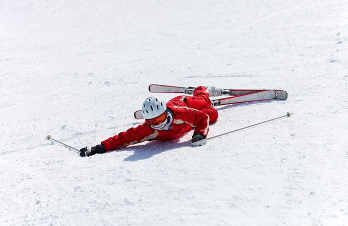 Skiërs lopen meestal letsel op aan de benen.
