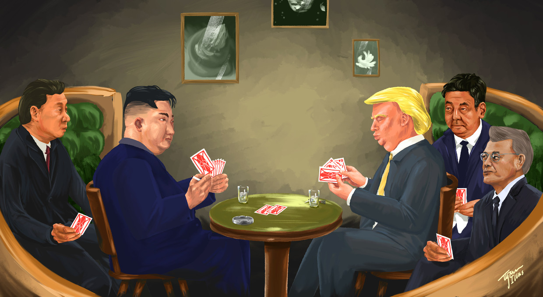 Als Donald Trump en Kim Jong-un elkaar dinsdag ontmoeten in Singapore, hebben ze ieder een handvol kaarten bij zich. Wat zijn hun eisen voor een akkoord?