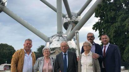 Diamanten huwelijksjubilarissen vieren mee 60 jaar Atomium