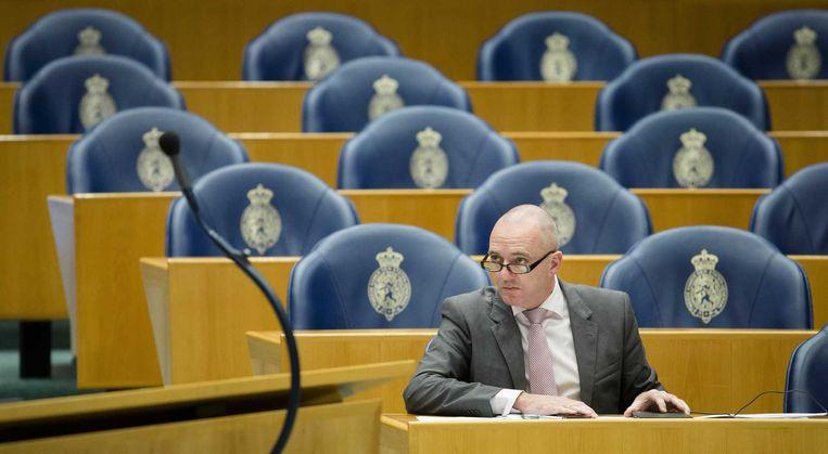 Kamerlid Machiel de Graaf (PVV) in de Tweede Kamer. Beeld anp