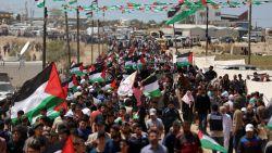Israëlisch leger vuurt traangas en rubberkogels af op Palestijnse betogers tijdens herdenking van Nakba