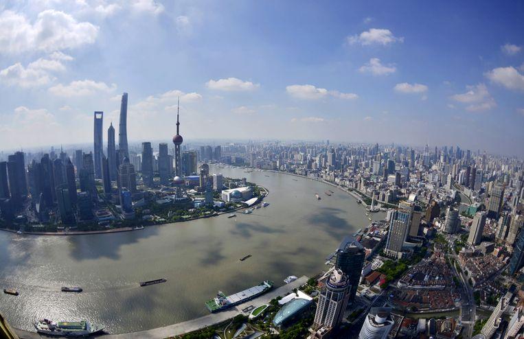 Zicht op Shanghai.