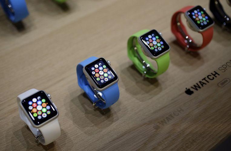 Het goedkoopste model van de Apple Watch. Beeld ap