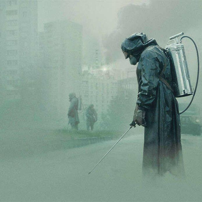 Beeld uit de HBO-serie Chernobyl, gebaseerd op de kernramp in de Oekraïense stad in 1986.