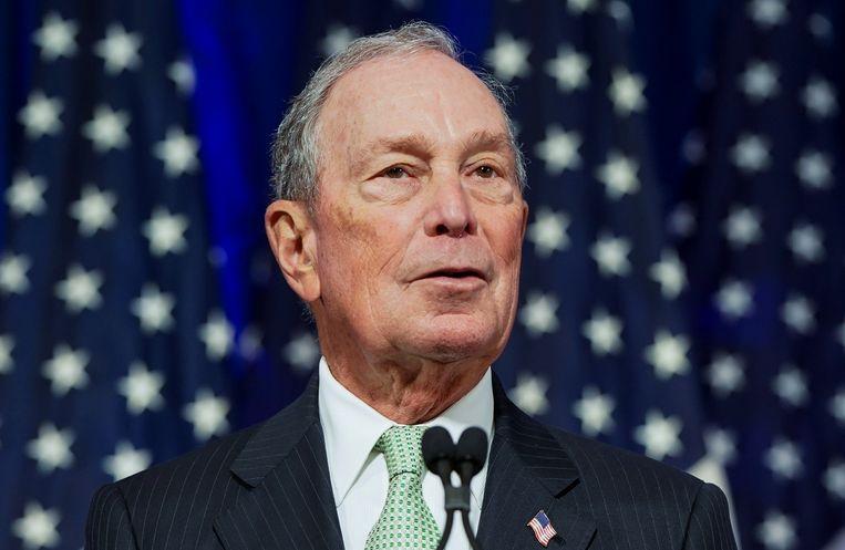Michael Bloomberg bij de bekendmaking van zijn kandidatuur voor de Amerikaanse presidentsverkiezingen volgend jaar.