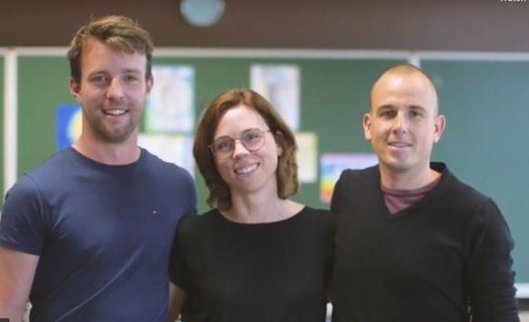 Kristof De Bruyn, Marijke Callens en Bert Ameloot, drie van de vier winnaars.