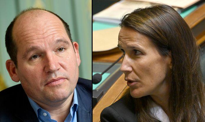 Brussels burgemeester Philippe Close (PS) en premier Sophie Wilmès (MR).