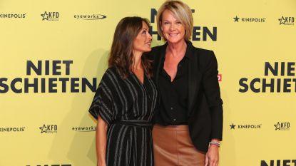 IN BEELD. Alexandra Potvin en Anke De Ridder poseren voor het eerst als koppel op première 'Niet Schieten'