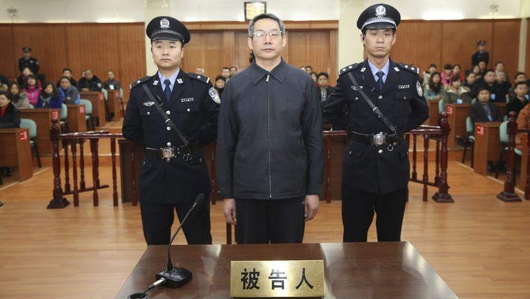 Liu Tienan, een topman van het staatsplanningbureau, hoort op 10 december 2014 zijn vonnis: levenslang wegens omkoping. Beeld reuters
