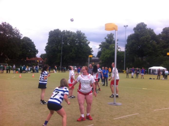 Korfbal bij het Radboud Sportcentrum