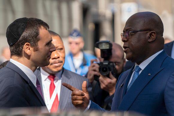 Ari Epstein (CEO van AWDC) en Félix Tshisekedi.