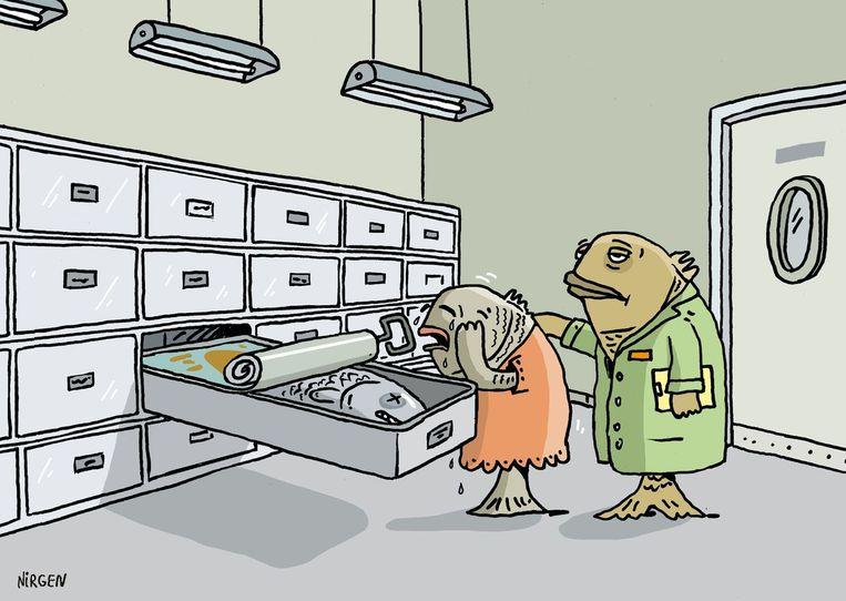 De Israëlische cartoonist Nirgen