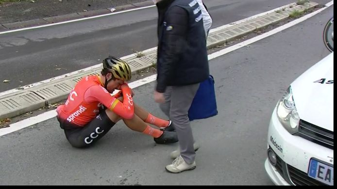 Greg Van Avermaet valt in Luik-Bastenaken-Luik