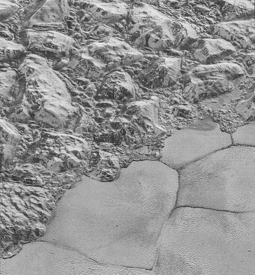 Pluto's oppervlak