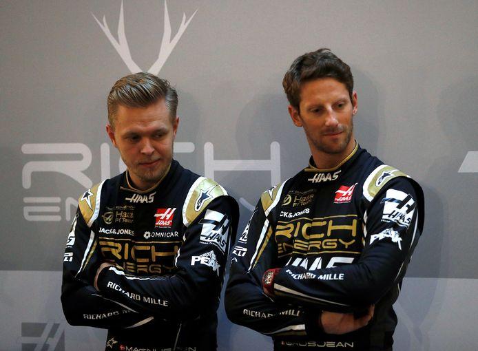Kevin Magnussen en Romain Grosjean.