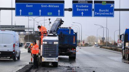 Chaos op de weg: hele avondspits tot een uur aanschuiven rond Antwerpen door noodherstelling op E17