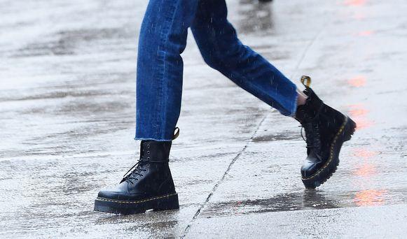 Een paar laarzen van Dr. Martens.