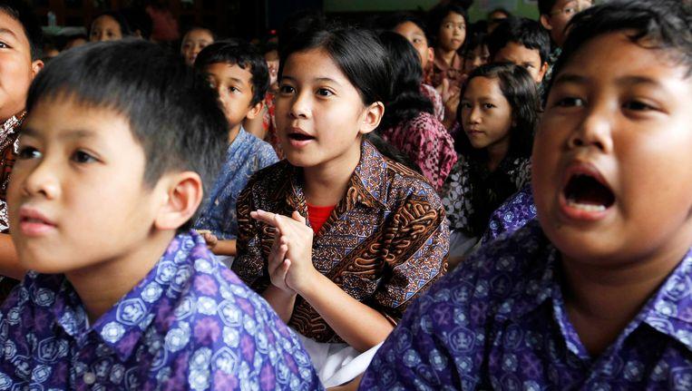 Schoolkinderen in Indonesië.