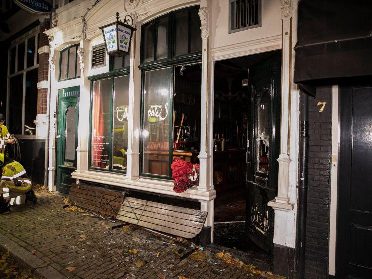Grote schade na brand bij Café 't Paleis in Nijmegen