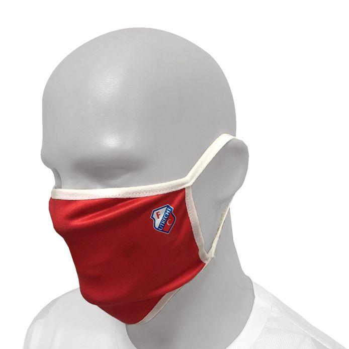 Een mondkapje van FC Utrecht