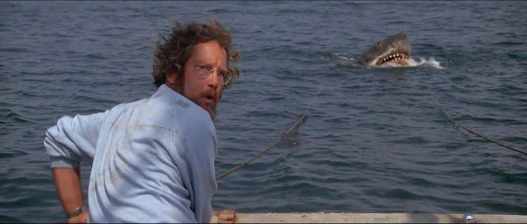 Richard Dreyfuss in Jaws (Steven Spielberg, 1975). Beeld