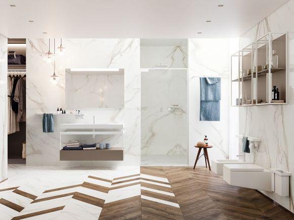 Een minimalistische stijl past bij wie houdt van een functionele, maar toch elegante badkamer.