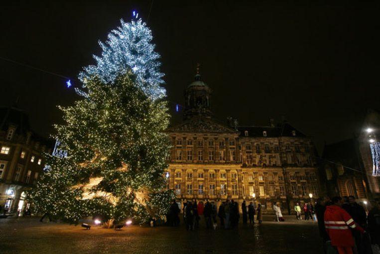 Lichtjes Kerstboom Dam Ontstoken Het Parool