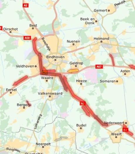 A2 bij Eindhoven weer vrij na ongeluk