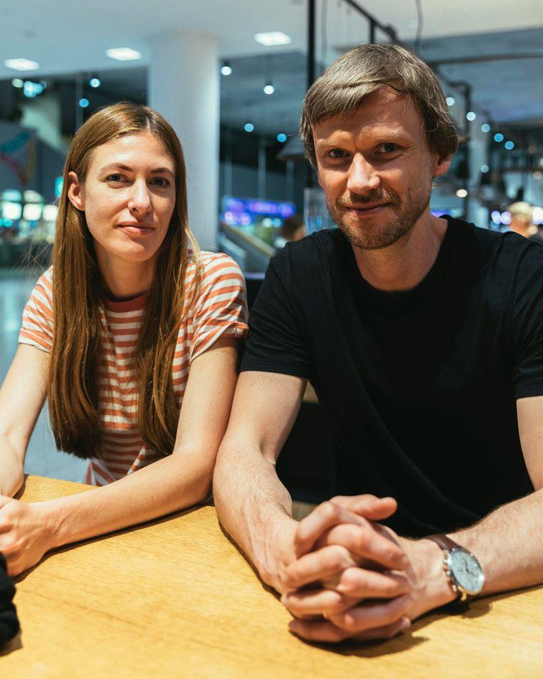 Matis en Katrin Tomiste. Beeld Rebecca Fertinel