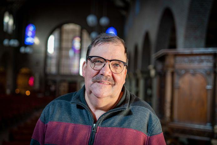 """Vrijwilliger Jan Wannet van de Grote Kerk in Huissen. ,,Het is fijn om blije kindergezichten te zien bij een speciale dienst."""""""
