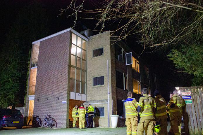 Direct na de brand in een appartement in Ellecom.