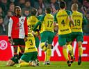 Fortuna viert feest: Feyenoord wordt in eigen Kuip met 0-2 verslagen.