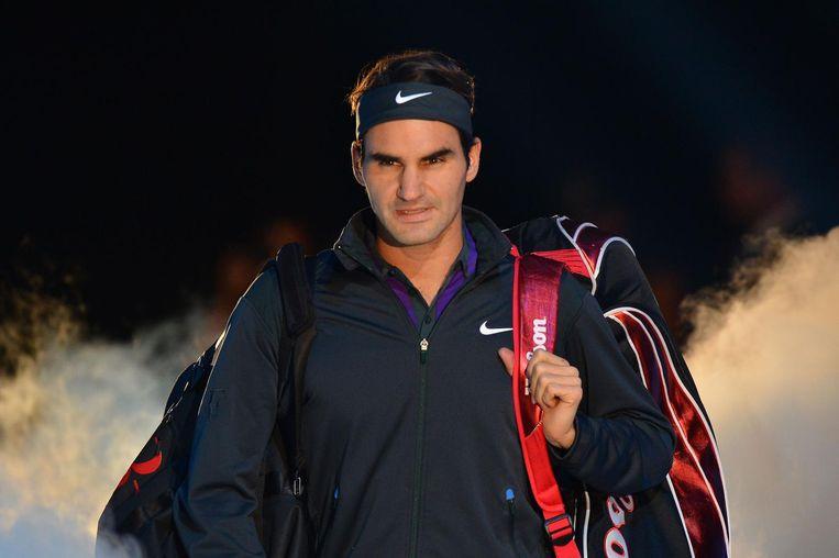 Federer tegen Murray in 2012. Beeld null