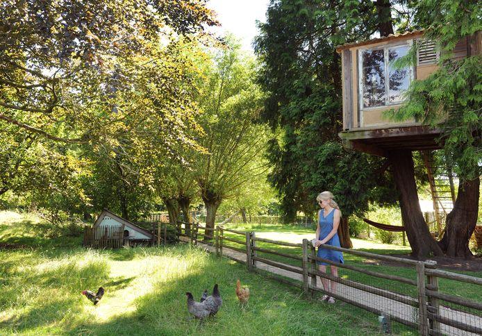 Vakantiegevoel in de tuin van de familie Verbrugge-Hesters.