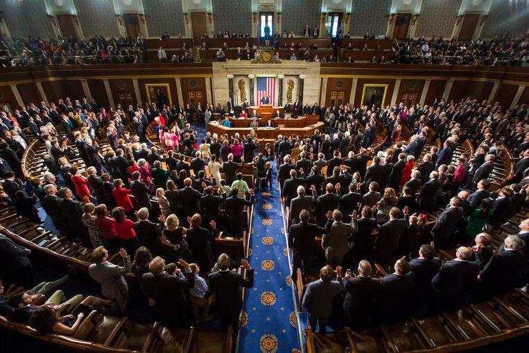 John Boehner wordt ingezworen in het huis van afgevaardigden op het Capitool in Washington op 6 januari 2015. Beeld EPA