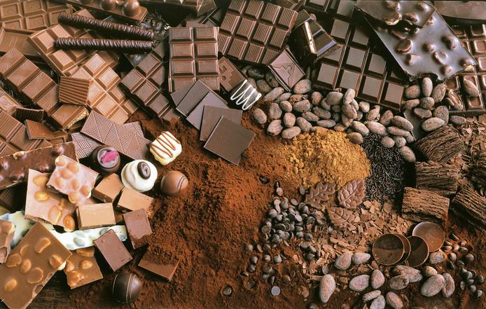 Chocolade-assorti.