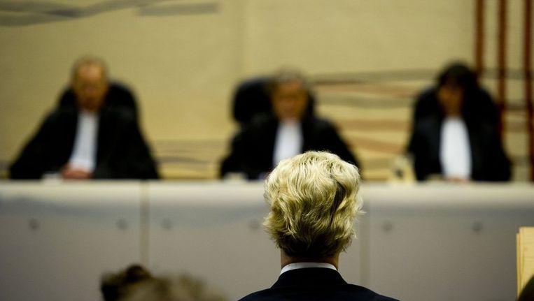 Geert Wilders vandaag in de rechtbank. Beeld null