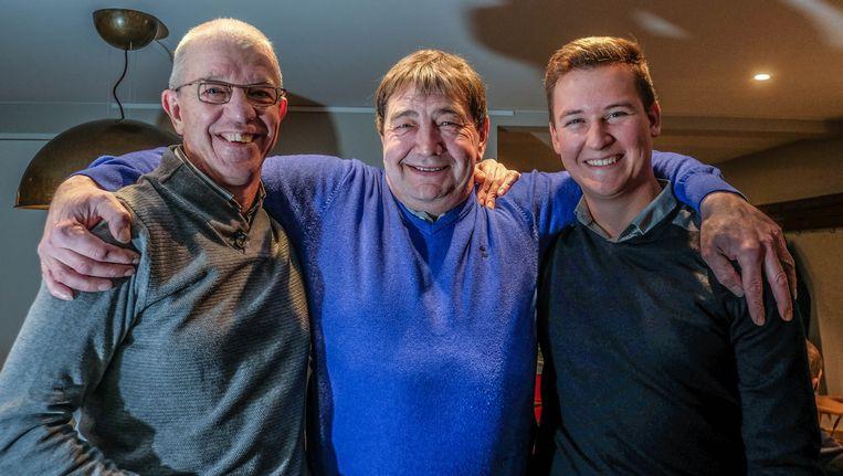 Rik Bettens heeft zijn leven te danken aanThomas Malfait (rechts) en Dickie Baetens. De heren werden door de coach getrakteerd op een heerlijk diner.