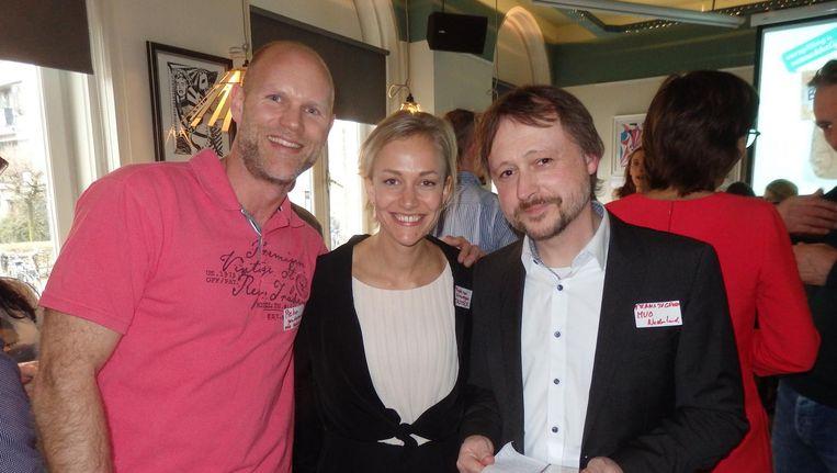 Pieter Goudswaard en Frans van der Groen (MVO Nederland) en Freke van Nimwegen (Instock), kartrekkers van circulaire producten. 'Verspilling is mijn hobby.' Beeld Schuim