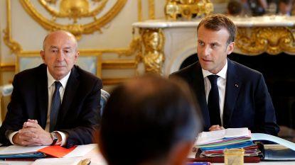 Franse minister van Binnenlandse Zaken biedt ontslag aan, maar president Macron weigert
