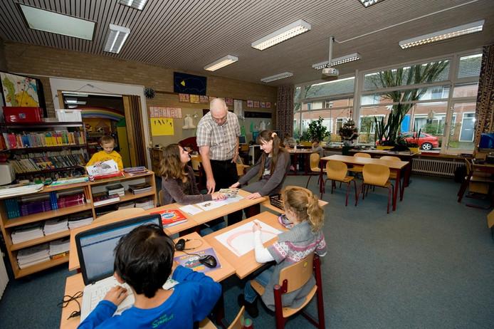De Prinses Margrietschool in Kats is te klein om open te blijven. foto Mechteld Jansen