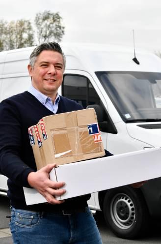 U jaagt op pakjes, bpost op bestelwagens